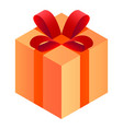gift box icon isometric style vector image vector image