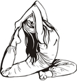 Girl doing stretching vector image