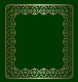 gold ornamental frame vector image