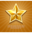Golden star poster with orange sun burst retro vector image