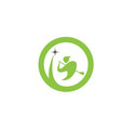golf logo template vector image vector image
