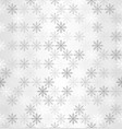 gradient snowflake pattern seamless winter vector image