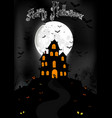 halloween background with scary house