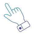 hand index isolated icon vector image