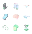 Innovative device icons set cartoon style vector image vector image