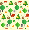 kids pattern with cute geometrical forest animals vector image