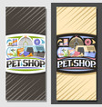 layouts for pet shop vector image vector image