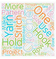 learn to crochet text background wordcloud concept vector image vector image