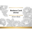 Luxury brand card with roses abstract