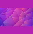 magenta purple triangle trendy low poly bg design vector image vector image