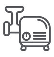 meat grinder line icon kitchen and utensil vector image vector image