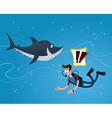 meet a shark vector image vector image