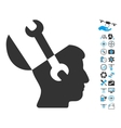 Mind Wrench Tools Icon With Air Drone Tools Bonus vector image vector image