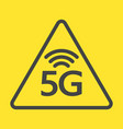new 5th generation internet 5g network vector image