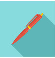 pen icon flat style vector image vector image