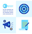 promotion and copywriting icon set in flat style vector image vector image