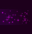 purple background in northern lilac frosty stars vector image vector image
