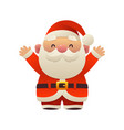 santa claus cartoon holiday character with hands vector image