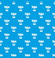 scale baby pattern seamless blue vector image vector image