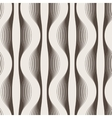 Seamless abstract geometric pattern of wavy vector image vector image