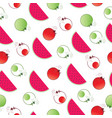 seamless pattern with watermelon and circles vector image