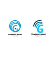 set initial letters g signal logo design vector image vector image