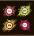 set of abstract label background vector image vector image