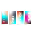 set of colorful gradient background for printing vector image vector image
