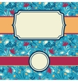 set of frames with abstract painted flowers vector image vector image