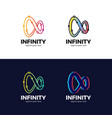 simple infinity technology network abstract vector image
