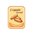 Sticker Organic Bread vector image vector image