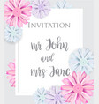 stylish elegant wedding invitation card vector image