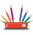 Swiss Knife Pencils vector image