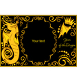 template with sign chinese horoscope dragon vector image vector image