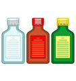 tinted glass bottles vector image vector image