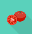 Tomato flat icon vector image vector image