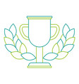 trophy cup winner with wreath vector image vector image