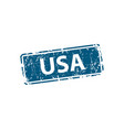 usa stamp texture rubber cliche imprint web or vector image vector image
