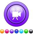 Video camera circle button vector image vector image