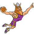 viking sports logo mascot basketball vector image vector image