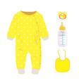 yellow baby set vector image