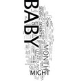 your curious baby baby s seventh month guide text vector image vector image