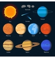 set of solar system planets Outer space vector image