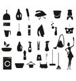 Laundry and Washing black icons set vector image