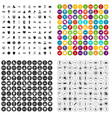 100 winner icons set variant vector image vector image