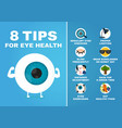 8 tips for eye health how to health care eyes vector image