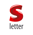 Abstract logo red letter S vector image vector image