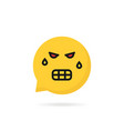 angry emoji speech bubble logo vector image vector image