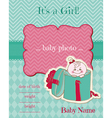 announcement baby girl card vector image vector image