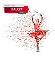 ballet sport dancing girl vector image